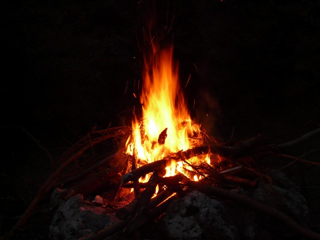 campfire outdoors