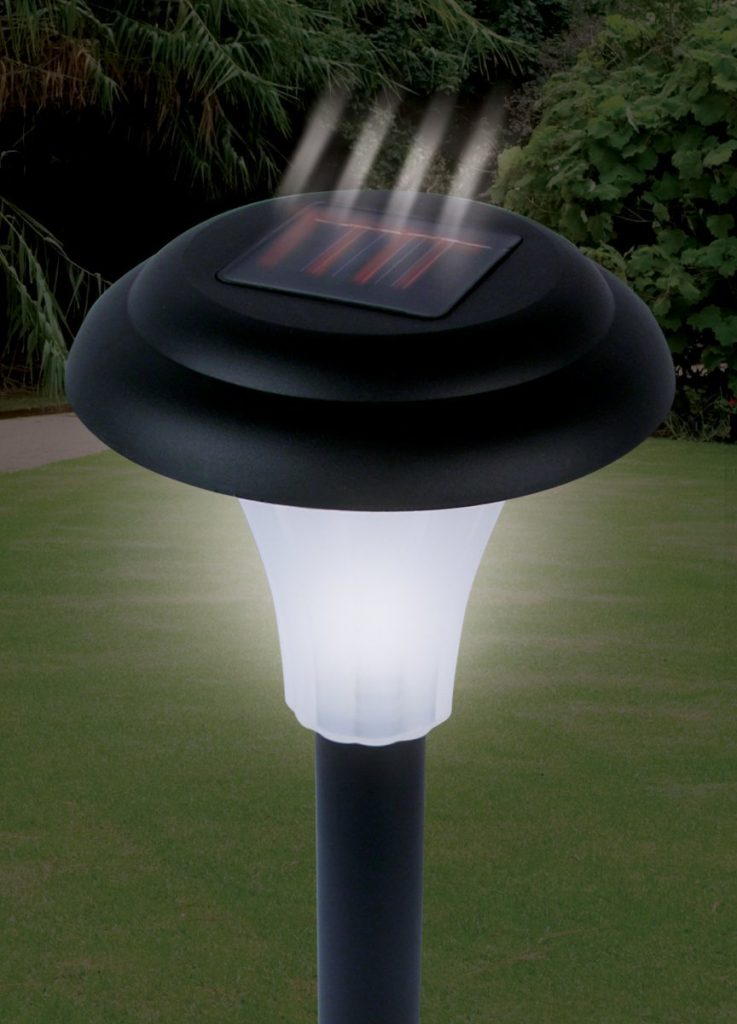 solar-powered garden light