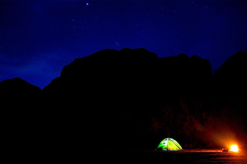 Mountainsmith Morrison 2 Tent nighttime