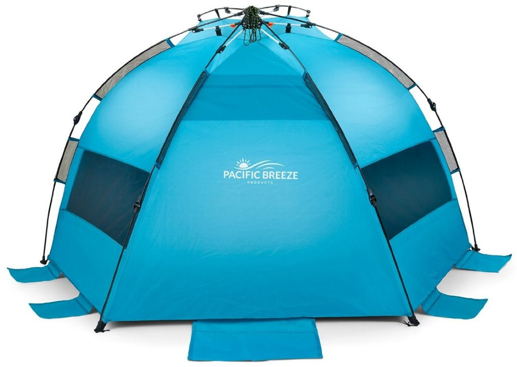 Pacific Breeze EasyUp Beach Tent back