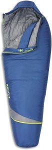 Kelty Tuck 22F Degree Mummy Sleeping Bag – 3 Season Ultralight Sleeping Bag with Thermal Pocket Hood - unzipped to show inside