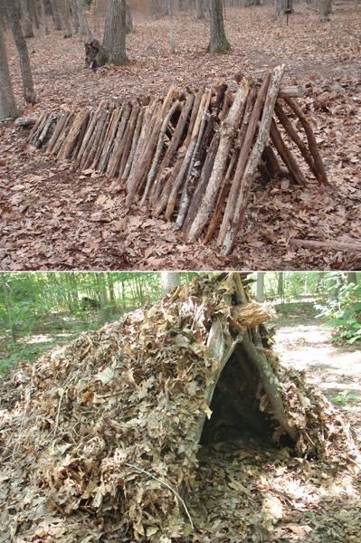 leaft hut