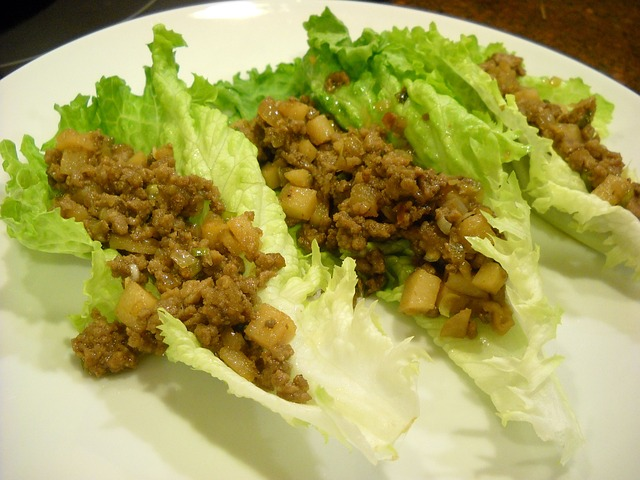 lettuce wrap with beef