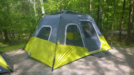 core-6-person-instant-cabin-tent-no-rain- & CORE 6 Person Instant Cabin Tent Review u2013 Is It Really Instant ...