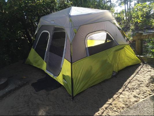 core-6-person-instant-cabin-tent-sun & CORE 6 Person Instant Cabin Tent Review u2013 Is It Really Instant ...