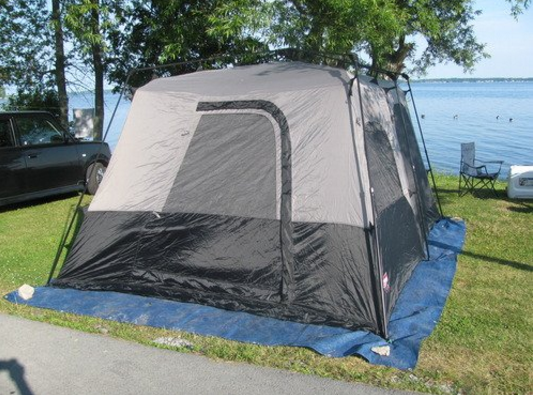the-coleman-8-person-instant-tent-by-beach
