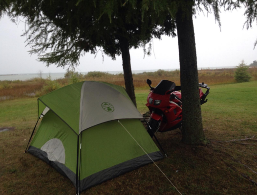 coleman-sundome-2-tent-motorbike