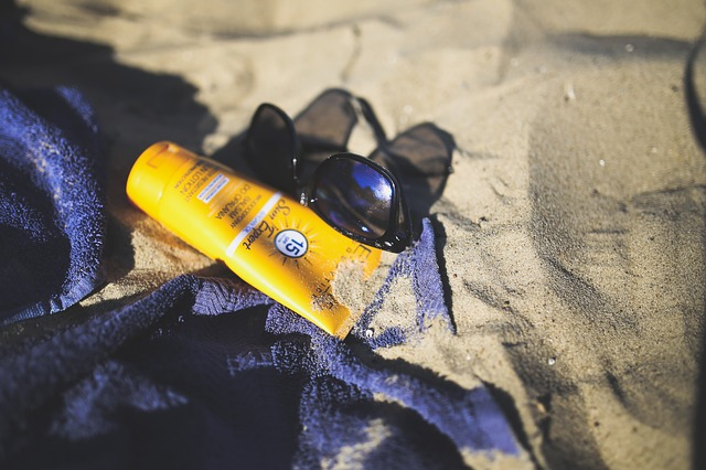 sunblock and glasses