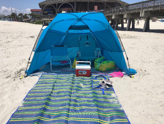 pacific-breeze-easyup-beach-tent-deluxe-xl-beach & My Honest Pacific Breeze EasyUp Beach Tent Deluxe XL Review ...