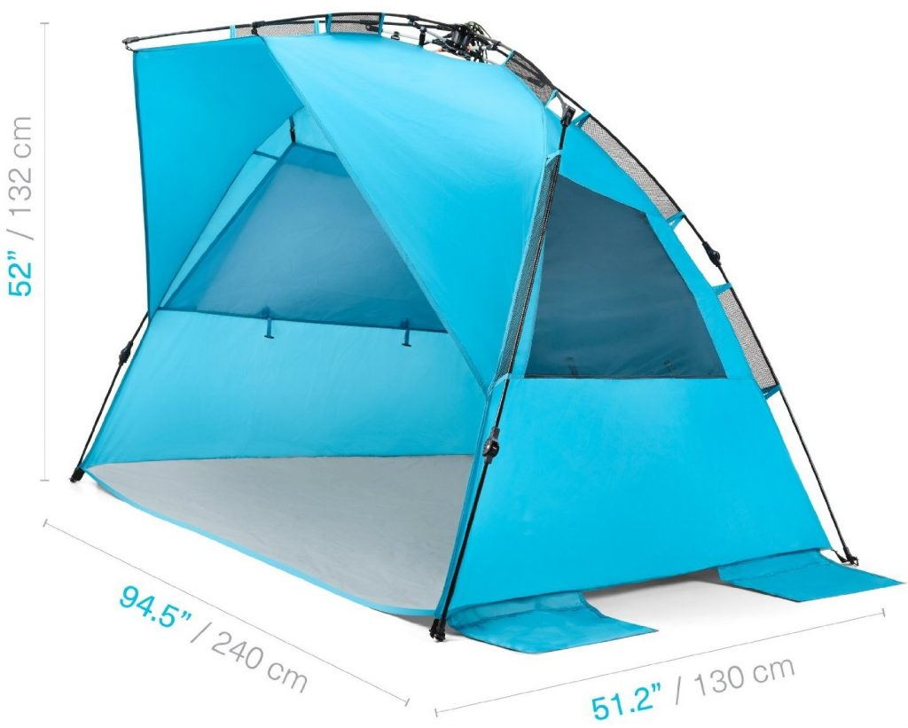 pacific-breeze-easyup-beach-tent-deluxe-xl-side  sc 1 st  C&ing Mastery & My Honest Pacific Breeze EasyUp Beach Tent Deluxe XL Review ...