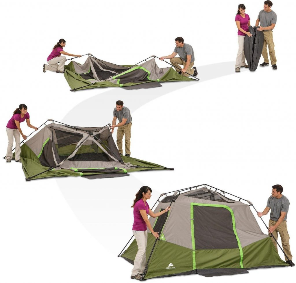 ozark-trail-6-person-instant-cabin-tent-being-pitched