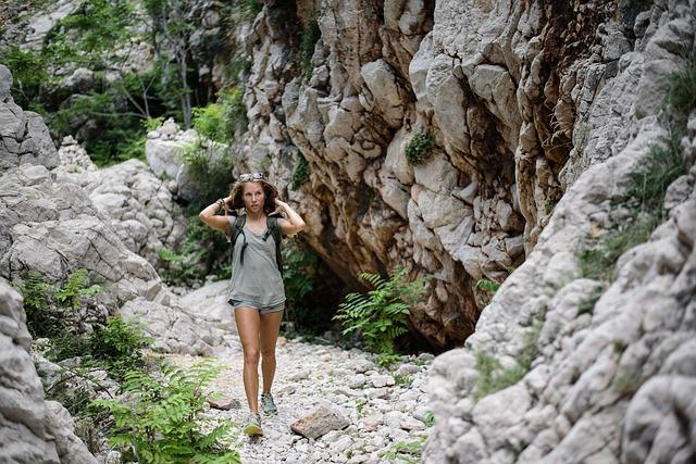 girl adventuring outdoors