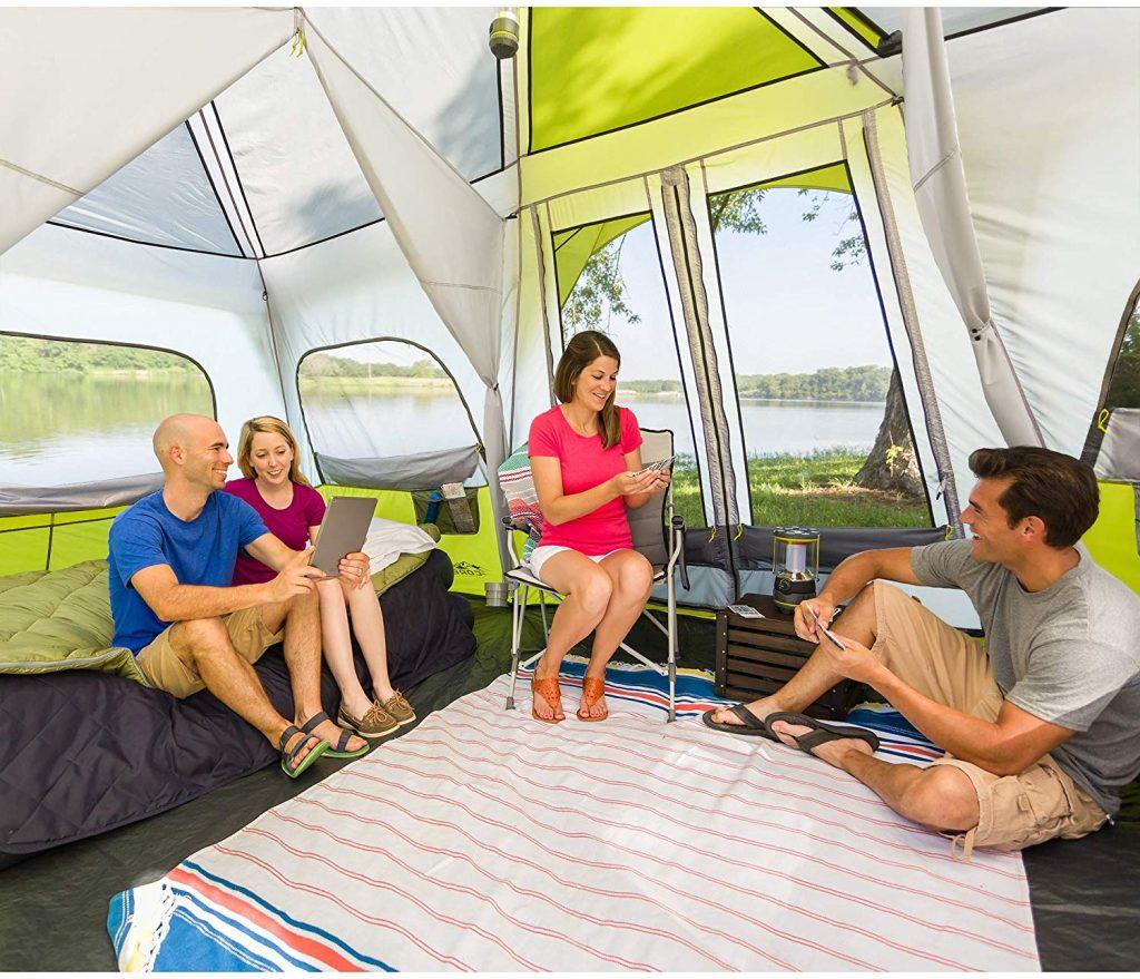 Inside CORE 12 Person Instant Cabin Tent