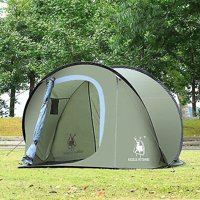 Camping Hiking Pop Up Tent pitched campsite