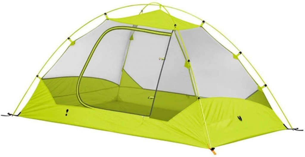 Eureka! Midori 2-Person Waterproof Backpacking Tent, Lime/Grey (4 Pounds 13 Ounces)