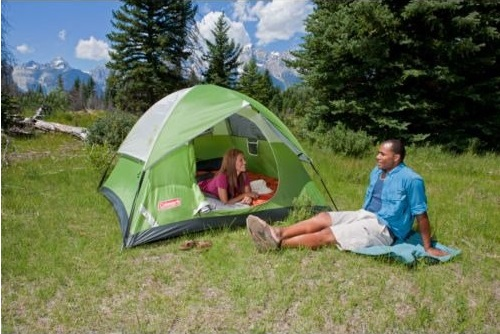 Sundome 3 Person Tent woman relax