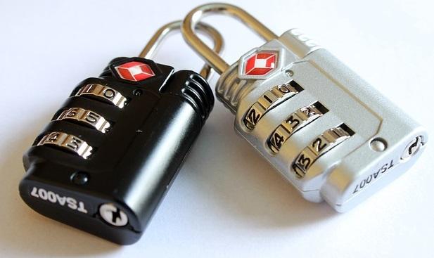 black and silver padlock