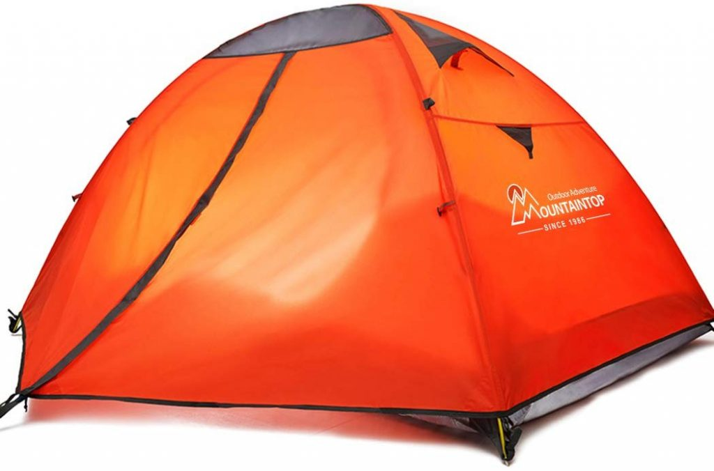 MOUNTAINTOP Waterproof 2 Person Backpacking Tents Camping Hiking Traveling Carying Bag