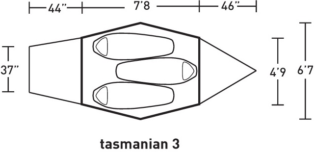 ALPS Mountaineering Tasmanian 3 Layout