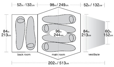 Flying Diamond 6 Floor Size Diagram