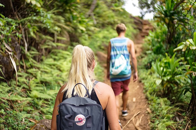 Boyfriend & Girlfriend Hiking