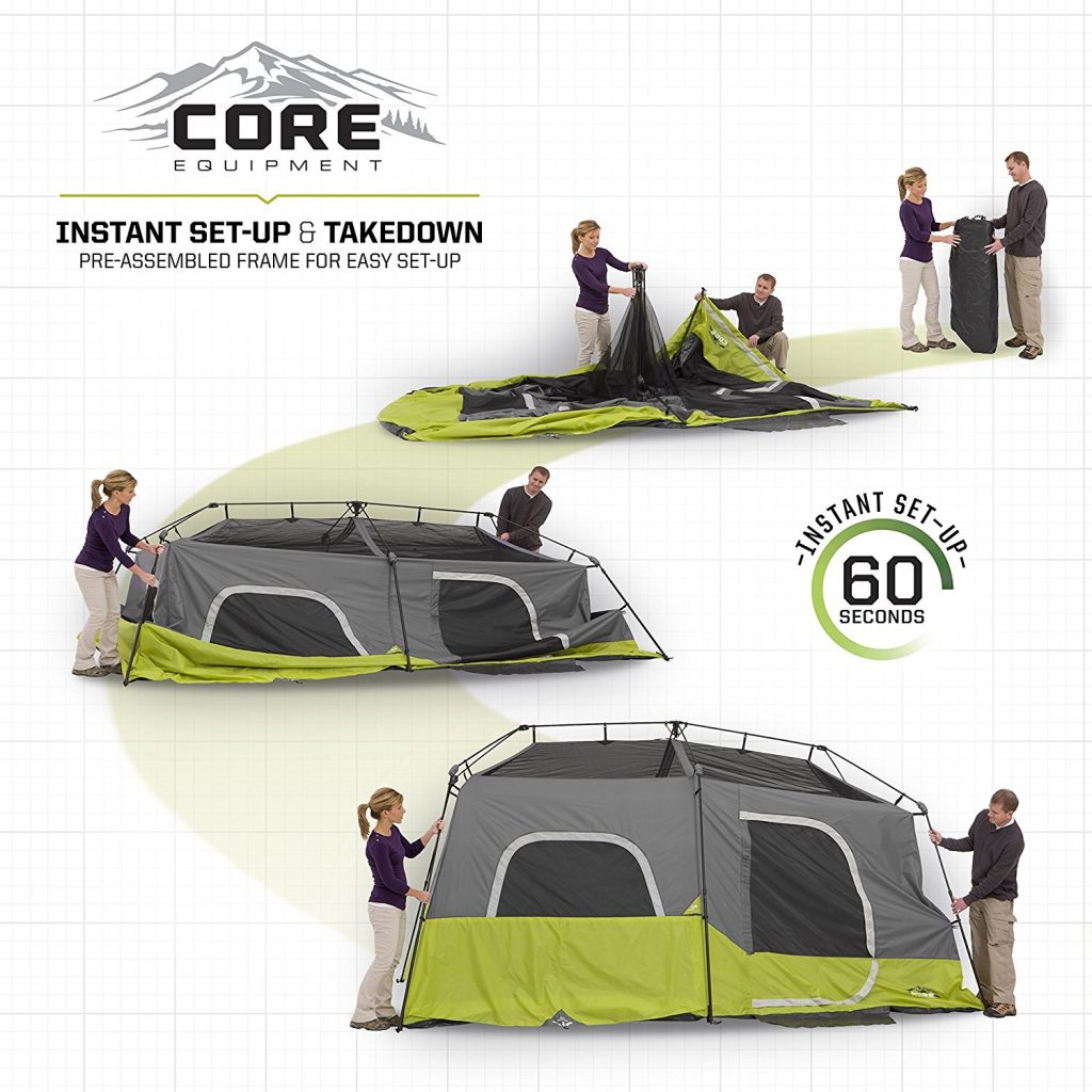 CORE 9 Person Instant Cabin Tent - 14' x 9' (6)