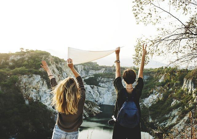 females camping