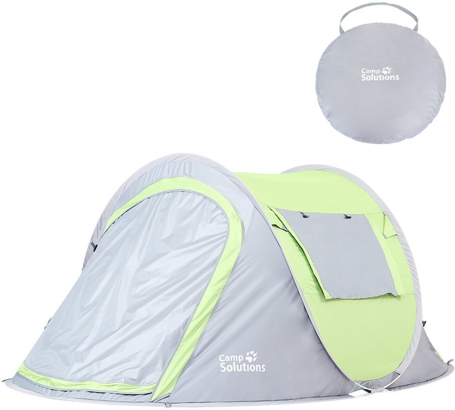 Camp Solutions Pop Up Tent Automatic Instant Setup Water Resistant Ventilation and Anti-UV for 2-3 Person for Backpacking and Camping