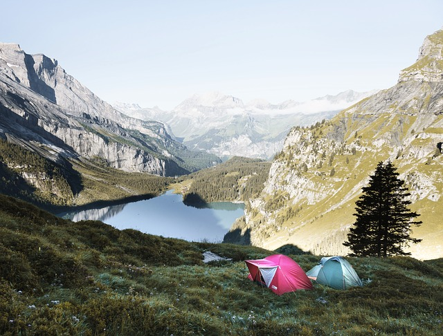 Tent Camping In Mountains