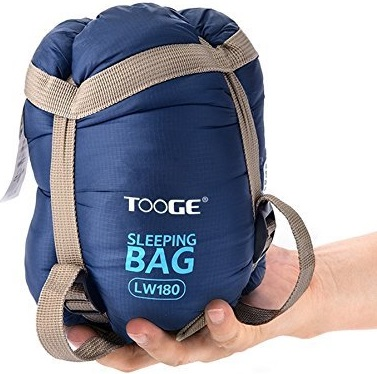 Tooge Backpacking Warm Light Sleeping Bag for Outdoor Sports-Camping, Hiking, Climbing Easy to Compress, Envelope Compact Sleeping Bags with Compression Storage Bag For Adult and Kids