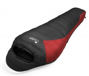 "MOUNTAINTOP Lightweight Down Sleeping Bags Fits up to 6'11"", 32-68°F Mummy Sleeping Bags for Adults with Compression Sack"