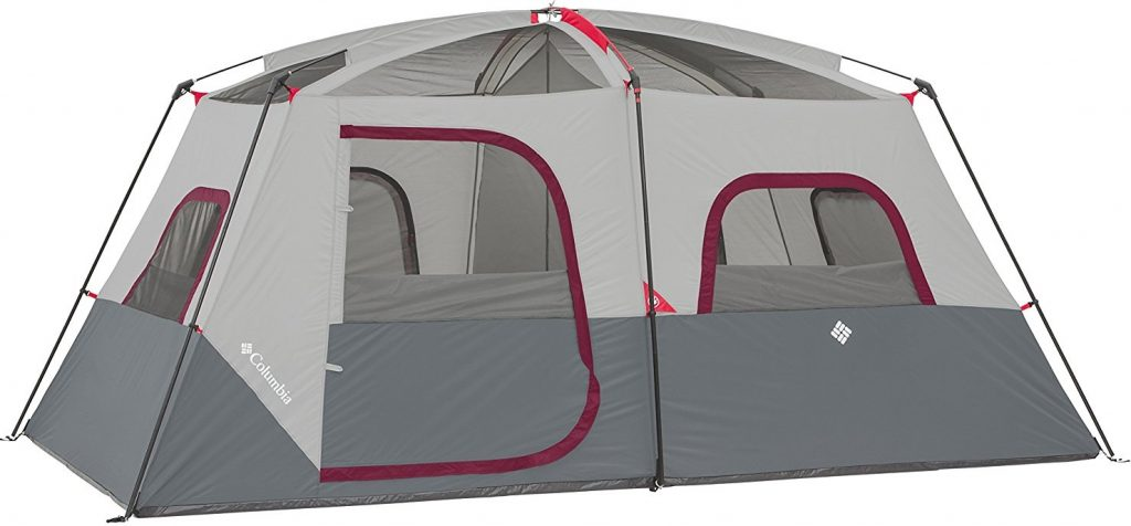 Columbia 8 Person Dome Tent (2)  sc 1 st  C&ing Mastery & A Columbia 8 Person Dome Tent Review (Red/Grey) | Camping Mastery