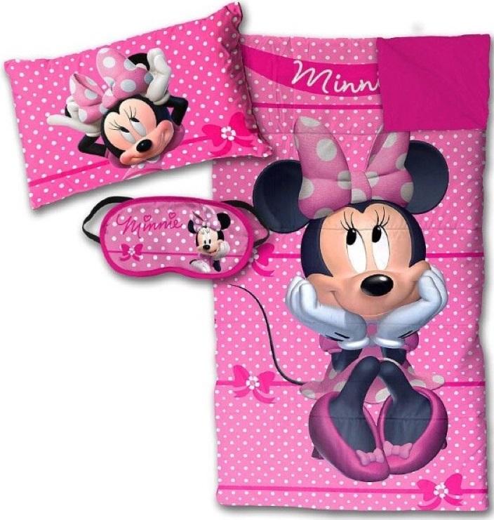 Disney Minnie Mouse Bowtique Sleepover Set - Sleeping Bag, Pillow and Eye Mask