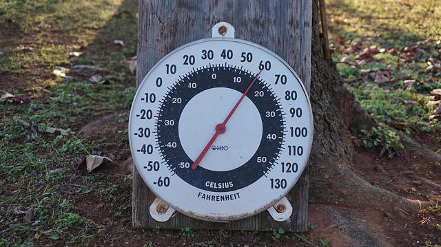 Fahrenheit Temperature Gauge Outdoors