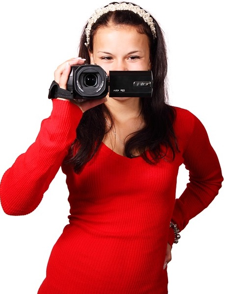 Girl With Camcorder