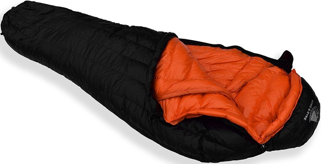 Hyke & Byke 800 Fill Power Goose Down Sleeping Bag - Eolus 15 & 0 Degree F Ultralight Mummy Bags for Backpacking