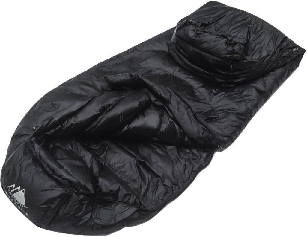 Hyke & Byke Shavano 32 F Ultralight Mummy Down Sleeping Bag for Backpacking with Compression Sack and Five (5) Color Options