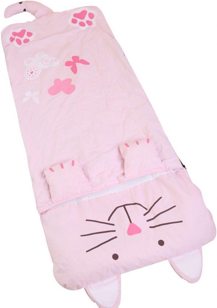JITTY Pink Cat Girls Sleeping Bags,Children Sleeping Bags