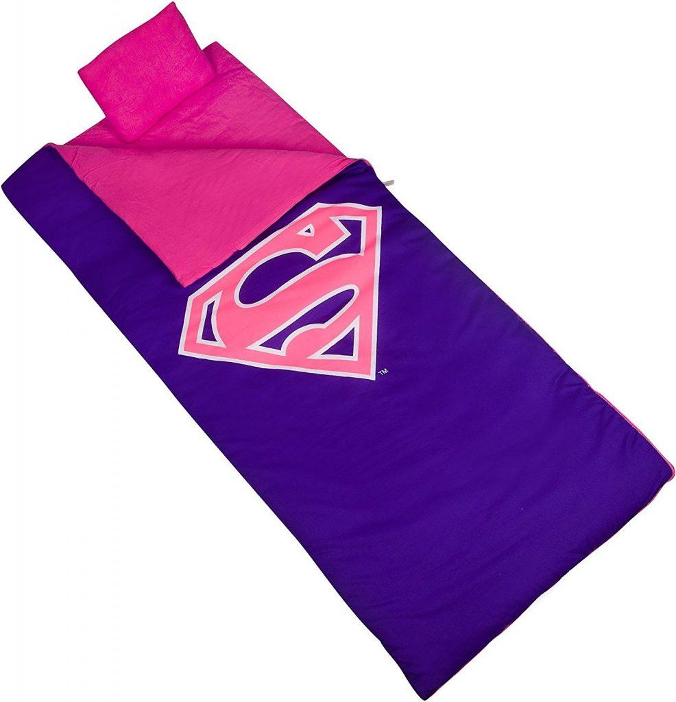 Wildkin Superman Pink Shield Original Sleeping Bag