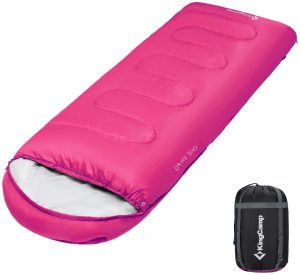 KingCamp Envelope Sleeping Bag 3 Season Lightweight Comfort Portable Great for Adults Kids Camping Backpack Hiking with Compression