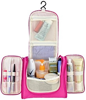 VOLADOR Toiletry Travel Bag,Waterproof Hanging Toiletry Bag Makeup Organizer,Portable Cosmetic Bag Set Bathroom Storage Bag for Traveling,Vacation,Camping Outdoor Activities