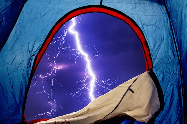 lightning strike near tent