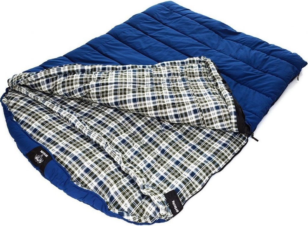 Grizzly 2-Person Sleeping Bag - CanvasBlue (-25 Degrees F)