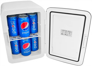Cooluli Electric Cooler and Warmer (10 Liter 12 Can) ACDC Portable Thermoelectric System (White) (2)