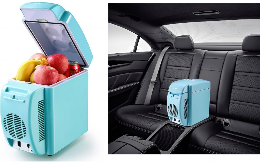 Housmile Thermo - Electric Cooler and Warmer Car Refrigerator Portable Mini Fridge AC & DC, 7 Liter12 Can