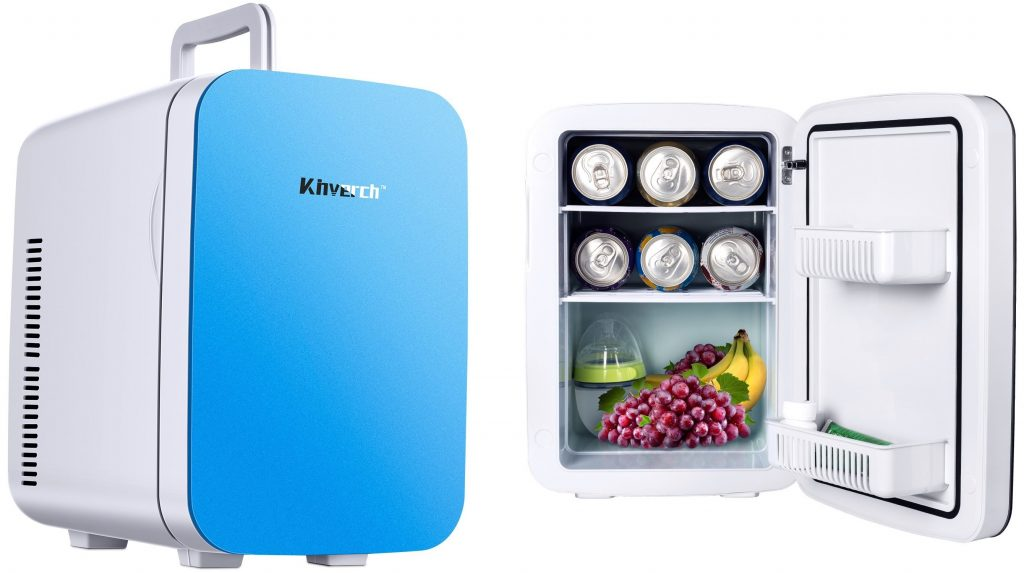 Kinverch Mini Fridge Electric Cooler and Warmer (15L18Can)110v AC12V DC Portable Thermoelectric System,For CarHomeKichenJunketOutdoor for frindsparentsyourself (Blue, 10L) (Blue, 15L)