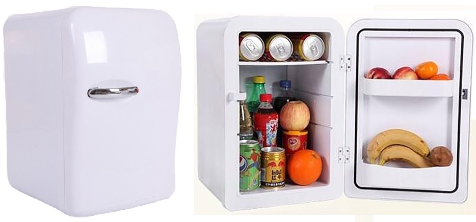 Portable 20L Mini Fridge Electric Cooler and Warmer, Thermoelectric System, DC 12V AC 110V Power for Travel, Home, Office, Car & Boat and Camping (White)