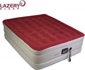 Lazery Sleep Air Mattress - Raised Electric Airbed with Built in Pump & Carry Bag - Fast Inflation, LED Remote Control & 7 Firmness