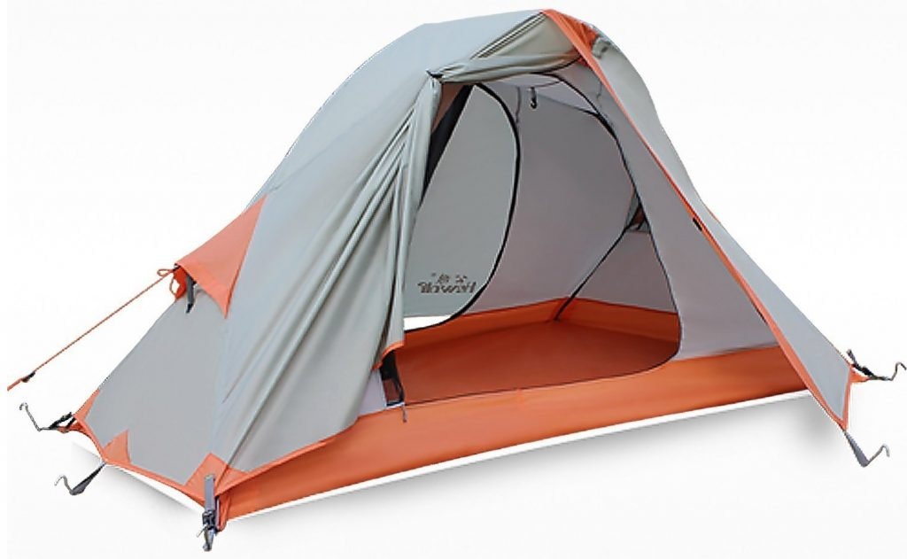 Hewolf Outdoor 1 Man Tent for TrekkingRidingHikingCamping, Waterproof