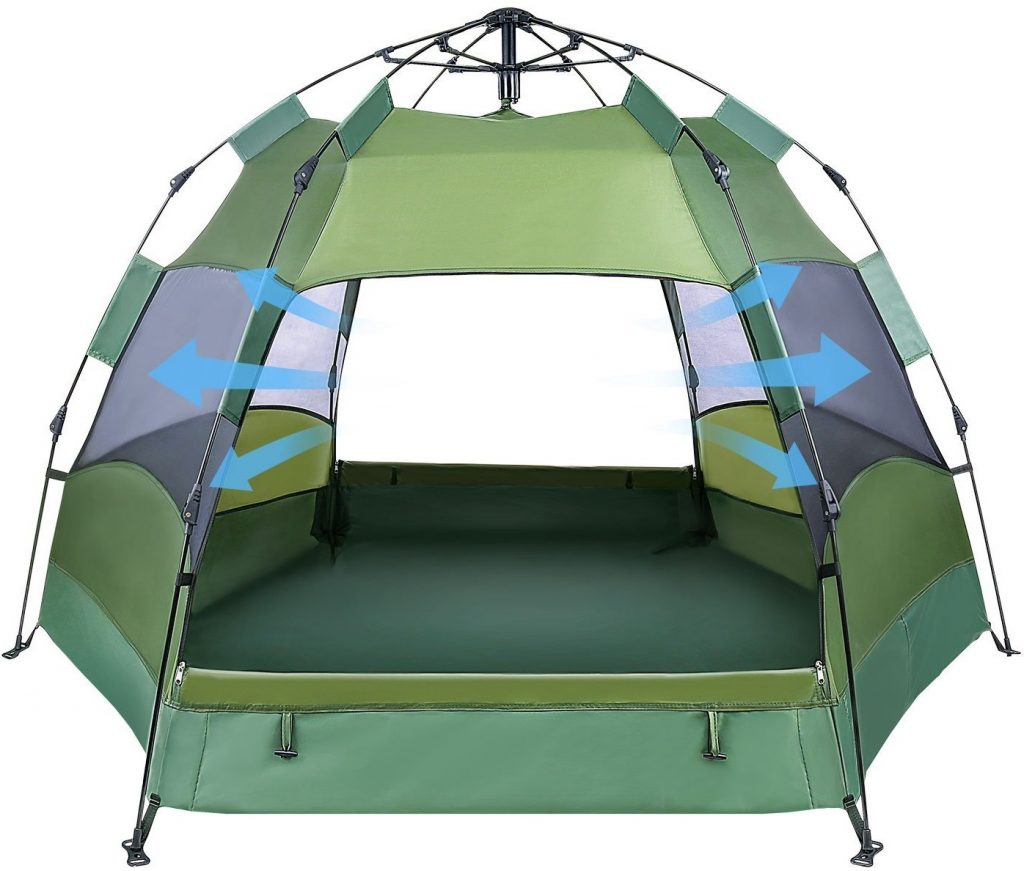 OlarHike 2-4 Person Tent for Camping, 4 Season Lightweight Waterproof Instant Family Backpacking Camping Tents, Green